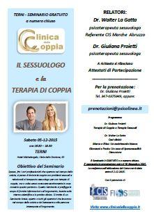 TERNI - Seminario Il Sessuologo e la Terapia di Coppia