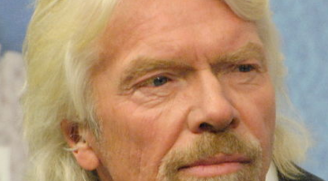 Sir Richard Branson è timido