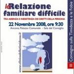 2008 Convegno La Relazione Familiare Difficile 22 Novembre 2008