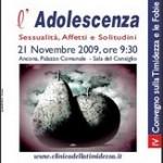 2009 Convegno L'Adolescenza 21 Novembre 2009